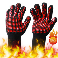 1*Glove 1472°F Silicone Extreme Heat Resistant Proof Oven Mitt Cooking BBQ Grill