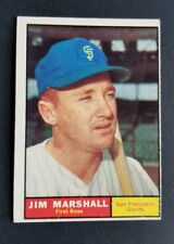 ORIGINAL1961 TOPPS SAN FRANCISCO GIANTS BASEBALL CARD #188 JIM MARSHALL EX. MT.