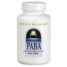 PABA 100mg, 250 Tablets Para-Amino Benzoic Acid Source Naturals
