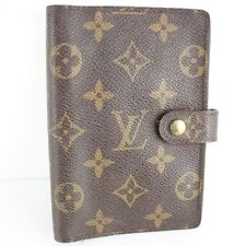 Auth LOUIS VUITTON Agenda PM Notebook Day Planner Cover Monogram R20005 Brown