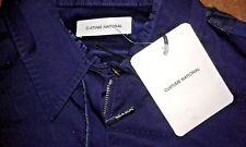 Costume National Navy Zip Cuff Luxury Ladies Cotton Jacket - XL