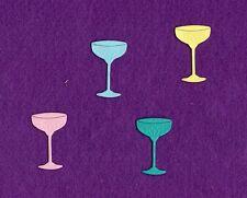 DRINK GLASS die cuts scrapbook cards