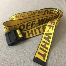 NEW Off White Tie Down Yellow Nylon Cotton Big IRON Head Industrial Belt 200CM