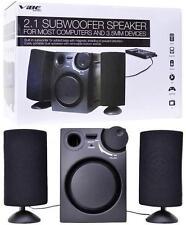 VIBE VS-521 3-Piece 2.1-Channel Multimedia Speaker System with Subwoofer (Black)