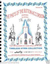 """ACCORDIONS, ACCORDIAN """"TIMELESS HYMN COLLECTION"""",EASY & FUN TO LEARN/ PLAY BY #S"""