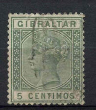 Gibraltar 1889-1896 SG#22, 5c Green QV Used #A73896