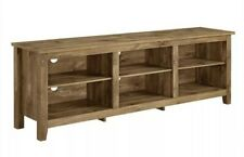 "Farmhouse Entertainment Center TV Stand for 70"" Flat Screen with Storage Shelves"