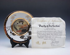 Authentic Hamilton Collection Chokin Plate Gold Gilt Purity & Perfection & COA