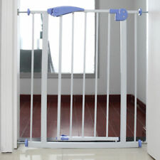 Child Toddler Pet Metal Baby Safety Gate Door Walk Through Easy Locking System