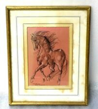 Rene Bolliger (1911-1971) Original Study Drawing of a Horse  - Signed