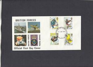 1980 Birds British Forces Postal Service FDC British Forces P.O. Hong Kong CDS