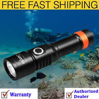 ORCATORCH D530 Dive Light, 1300 Lumens, 8 Degrees Narrow Beam Angle, Titanium 2