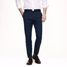 J Crew Ludlow Pants 35x30 Blue Flat Front Dark Cotton Slim Fit 74088 Suit Pant