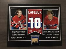 GUY LAFLEUR MONTREAL CANADIENS GAME USED STICK 8 X 10 COA