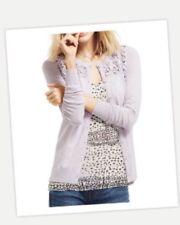 Cabi Lace Yoke Cardigan Sweater, Lilac, Size Small, NEW-NWT, Orig. $128