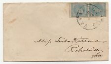 CSA Cover Scott #7 Pair Savannah GA April 14, 1863 CDS Cancel to Robertville SC