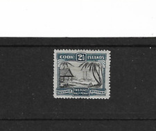 1932 COOK ISLANDS - 2&1/2 PENCE BLUE - MINT VERY LIGHTLY HINGED.