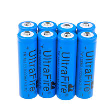 8Pc Genuine UltraFire 18650 Rechargeable Battery 3000mAh 3.7v Li-ion Battery Usa
