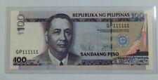 2011 PHILIPPINES 100 PISO UNC @ Solid No.1