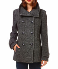 ARITZIA Talula Babaton HOWELL Wool Coat Jacket Italian Wool Black Gray sz L