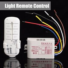 220V 315MHz 4CH Wireless Smart Light Remote Control Switch Receiver Transmitter
