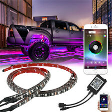 4x RGB LED Ambient Light System Underneath the Car Neon Lighting Kit APP Control