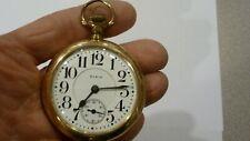 Gold Filled Ls Pocketwatch Excellent Running Antique Mens 18S Elgin Veritas 23J
