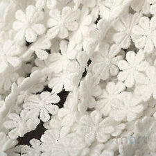 1 Yard White Vintage Pure Cotton Crochet Lace Trim Embroidery Ribbon Sewing