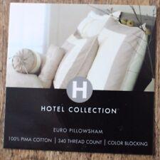 NWT  Hotel Collection 100% Pima Cotton Euro Sham - Ivory