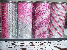 Large Bic Rhinestone Lighter Case Cover-Pink Assorted