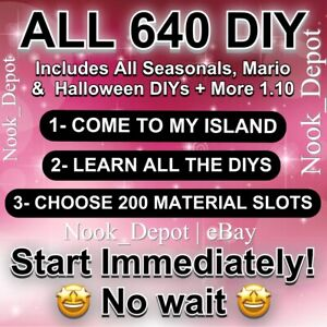 Animal Corssing Horizons FULL COMPLETE ALL DIY Recipes Cards FULL 640 Start Now!