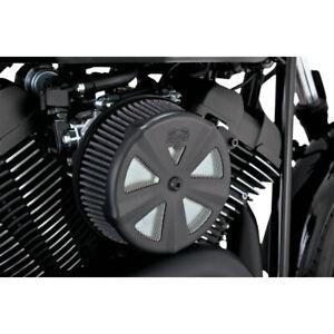 Vance & Hines Black 'Skullcap Crown' Air Cleaner Cover for Harley