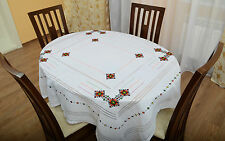 Ukrainian Hand Embroidered Linen Flax Embroidery Tablecloth