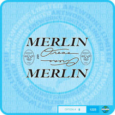 Merlin USA Oreas Bicycle Decals Transfers Stickers - Set 8 - Black