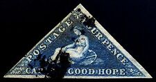 Cape of Good Hope. 1863. 4d. Dark Blue. SC# 13, SG 19. XF Used