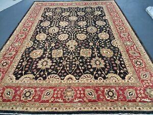 "9'2"" x12'3"" Pakistani Peshawar Chobi Rug carpet,Handmade,Veg Dye,100% Wool 9x12"