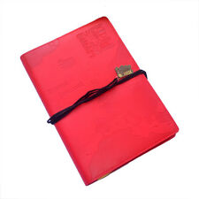 WORLD TRAVEL JOURNAL Red Embossed Bucket List Holiday Travellers Notepad Book