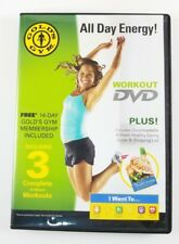 Gold's Gym Workout Dvd All Day Energy! 3 Complete Workouts