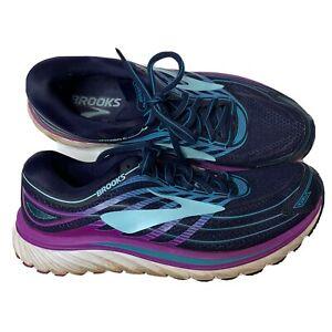 Brooks Blue/Purple Lace-up Athletic Sneakers Women's Sz 10.5 1202471B465