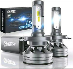 Fahren H4/9003/HB2 LED Headlight Bulbs, 60W 12000 Lumens Super Bright LED Hea...