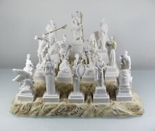 Set All The 12 Olympian Gods of Mount Olympus Alabaster Greek Statues 6.69''