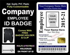 Custom EMPLOYEE / COMPANY / CORPORATE ID badge Card - Custom w your PHOTO & INFO