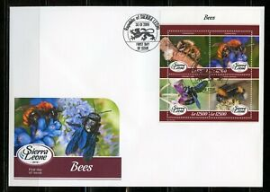 SIERRA LEONE 2019 BEES SHEET FIRST DAY COVER