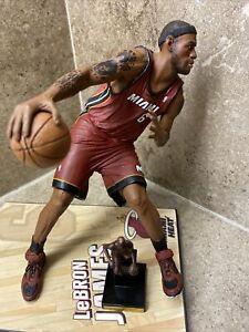 🔥Lebron James McFarlane Series 24 Figure w/MVP TROPHY! in Red Miami Heat RARE🔥