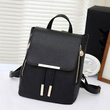 Damen Mädchen Leder Rucksack Schulrucksack Tasche Umhängetasche  Bag AUS DE