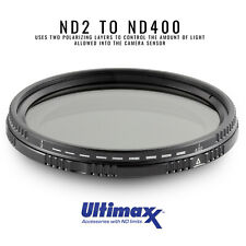 ULTIMAXX 49mm Variable Neutral Density Twisting Multi-Coated Filter ND2-ND400