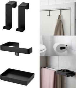 Ikea SKOGSVIKEN Hook For Door / Roll Holder / Tray Small Storage Bathroom Black