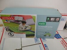 EMBARK TWIN AIR BED WITH PUMP 337-03-0071 NEW IN OPEN BOX  FAST/FREE SHIPPING