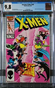 Uncanny X-Men #208 CGC 9.8 NM/MT Hellfire Club & Nimrod Appearance WHITE PAGES