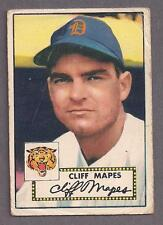 1952 Topps #103 Cliff Mapes, Detroit Tigers